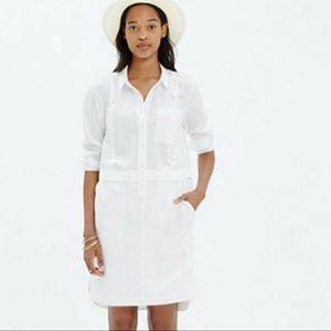 Madewell courtyard dress button down long sleeve